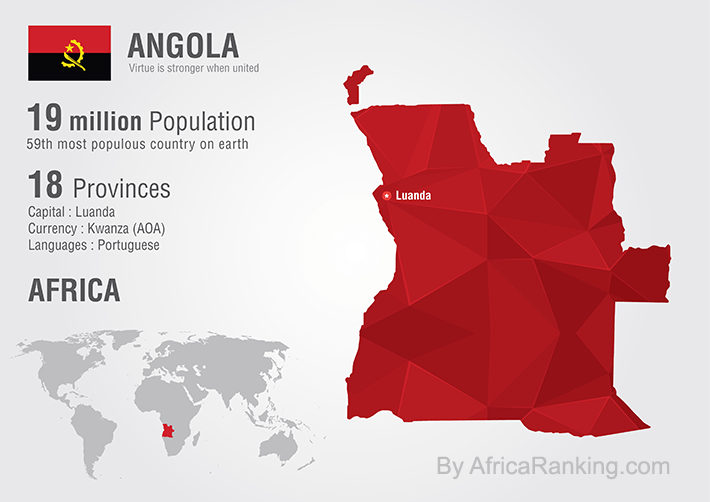 Angola Map By AfricaRanking.com
