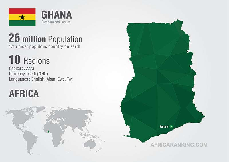 Ghana Map: List of Countries in West Africa