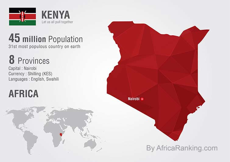 Kenya Map by AfricaRanking.com
