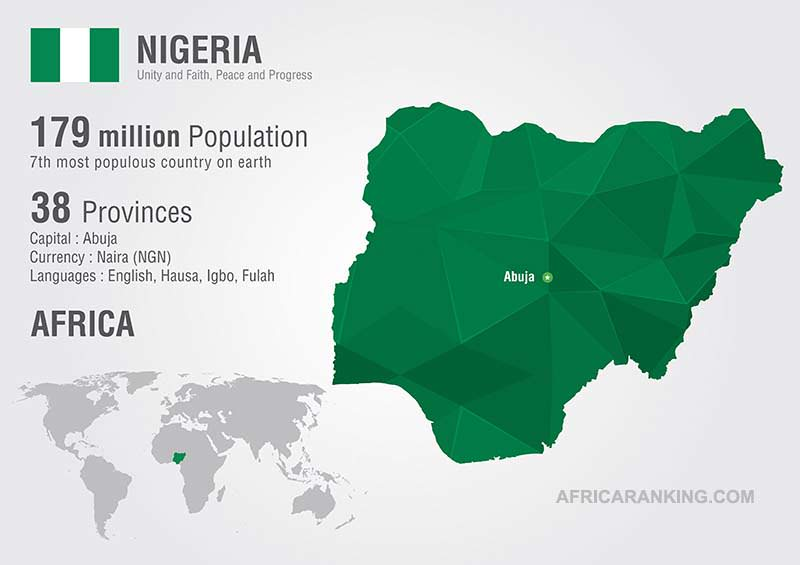 Nigeria Map: List of Countries in West Africa