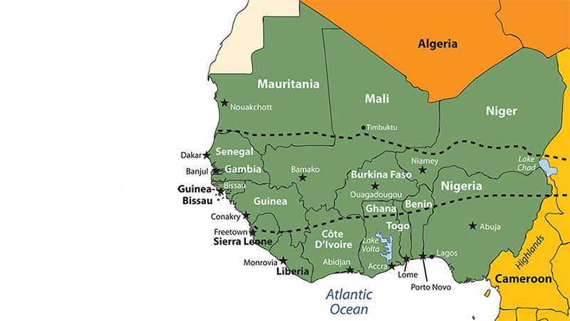 which nation in west africa was Compared to other countries in west africa, ghana is a very safe, stable country due to its lower crime rate, the number of annual tourists visiting ghana is roughly 950,000 and is expected to grow to 15 million by the year 2024.