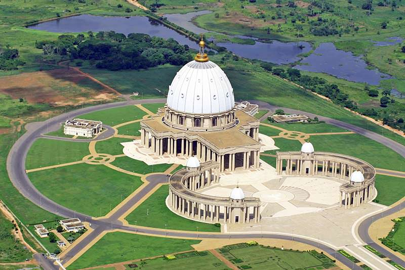 Basilica of Our Lady of Peace of Yamoussoukro, Côte d'Ivoire - most beautiful churches in Africa