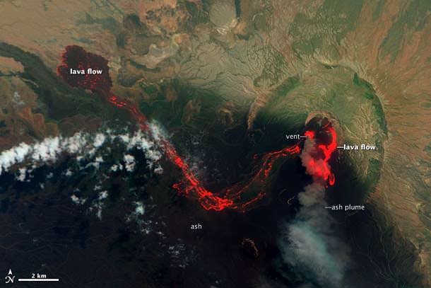 Image showing the massive size of the 2011 Nabro Volcano eruption