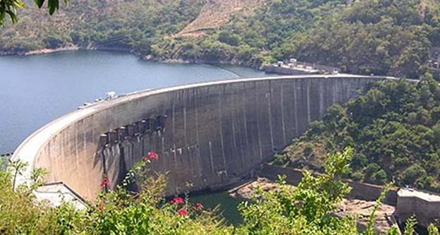 Kariba Dam in Zambia and Zimbabwe