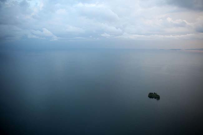 Dot Island in Lake Kivu
