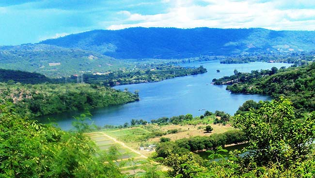 Volta Lake - the largest reservoir by surface area in the world