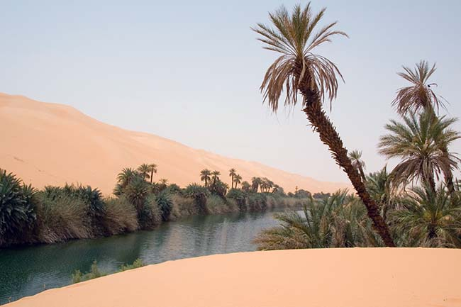 The Ubari Oasis in Libya Sahara facts